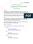 Public Affairs Rules of Engagement for Social Media (STRATCOM)