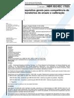 NBR ISO 17025 - 2001 - Requisitos gerais para competencia.pdf