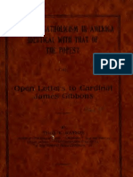(1914) Is Roman Catholicisn in America Identital With That of the Popes? Or, Open Letters to Cardinal James Gibbons
