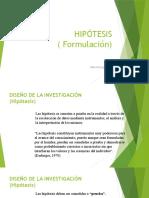 HIPÓTESIS ( Formulación)