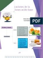 Aplicaciones de La Valoraciones Acido Base