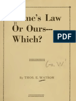 (1928) Rome's Law or Ours, Which?