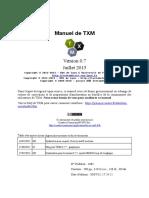 Manuel de TXM 0.7 FR