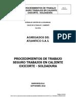 Procedimientos Oxicote - Soldadura