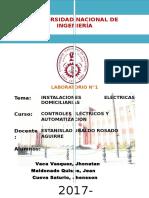 1er Informe Instalaciones Electricas Domiciliarias