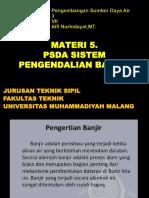 5. PSDA Sistem Pengendalian Banjir (1)