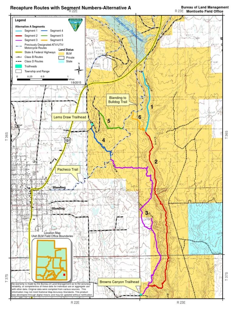 Recapture EA Alternative Maps   Bureau Of Land Management   Outdoor ...