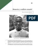 Articulo Memoria y Olvido