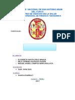 aplicaciòn de la quimica analitica en medicamentos