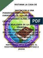 Mision Cristiana La Casa de Yeshu1 Invitacion