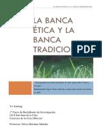 La Banca Etica y La Banca Tradicional