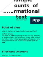 multiple accounts  of informational text
