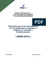 Instructivo Para El Uso Del Aplicativo de La Act Cart y Reg de Viv (DIVES 2015) INEI