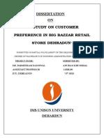 Study on Customer Preferences in Choosing Big Bazaar