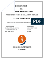 Study on Customer Preferences in Choosing Big Bazaar