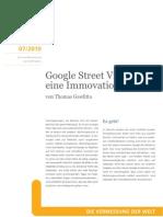 Google Street View –  eine Immovation