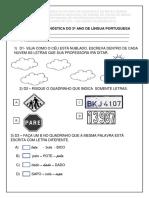 Diagnóstica Língua Portuguesa - 2º Ano