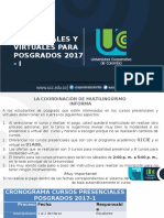 Cursos Presenciales y Virtuales Posgrados 2017 - I