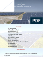 10 mw solar power plant analysis