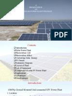 10 mw solar power plant analysis