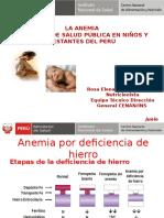 Situacion de La Anemia en Niños y Gestantes - 2015