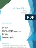Presentasi Kasus LBP Ec HNP Tasia Bibil