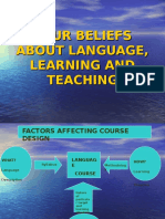 UNIT 4- Your Beliefs About Language,Learning & Teaching