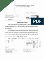 Order Bondi Charity Complaint