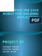 Developing Irb 1410 Robot for Welding Application