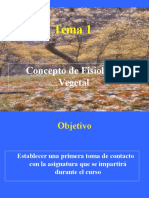 Tema 1-Introduccion a La Fisiologia Vegetal