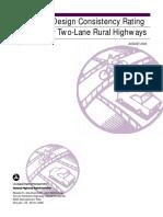 Alternative Design Consistency Rating Methods for Two-Lane Rural Highways