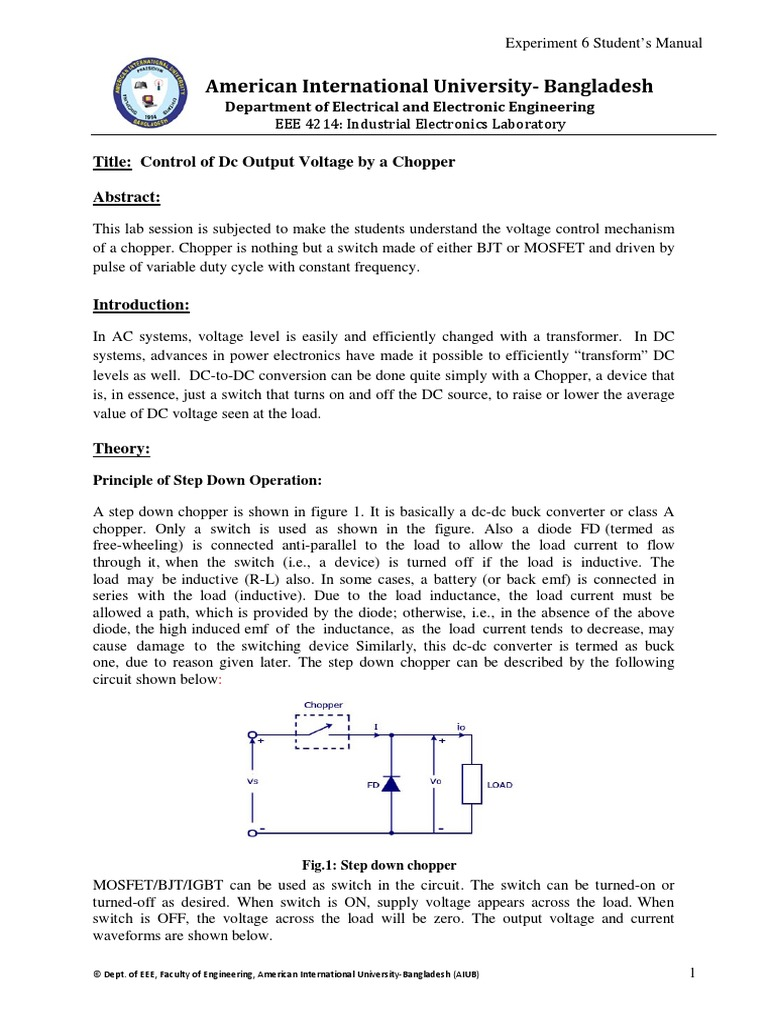 ie exp 06 student manual power electronics mosfet rh es scribd com