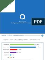 Sondaggio intenzioni di voto a Padova