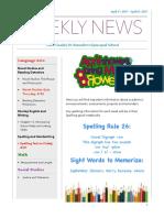 weekly newsletter- apr  17- apr  21