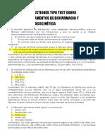 Cuestiones Tipo Test Sobre Fundamentos de Biofarmacia y Farmacocinética