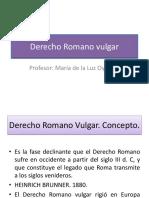 Derecho Romano Vulgar