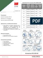 FT Accesorios Potable SCH40