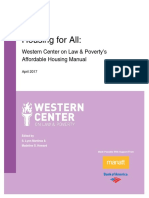 Western Center 2017 Housing for All Table of Contents