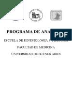 Programa Anatomia