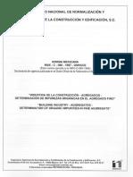 05 NMX-C-088-1997 Agregados-Determinación de Impurezas Orgánicas- Agregado Fino.pdf