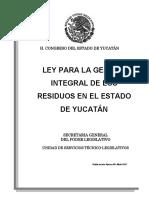 Ley Gestion Integral Residuos Yucatán