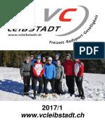 Vereinsheft Veloclub Leibstadt 2017/1
