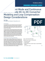 Peak Current Mode and Continuous Current Mode DC to DC Converter Modeling2