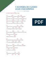 Letra y Acordes de Cuando Escucho Chacareras