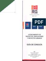 Licenciamiento de proyectos, edificaciones y proyectos urbanos