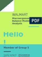 Makro - WALMART Balance Model
