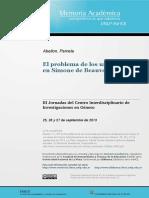 El Problema de Los Universales en Simone de Beauvoir