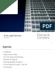 AI for Legal Services - Buyers Council - 12 April 2016