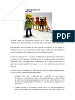 Salud y Seguridad Ocupacional Unidad 1