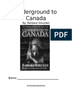 underground to canada novel study
